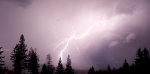 Lightning photography, professional DSLR camera.