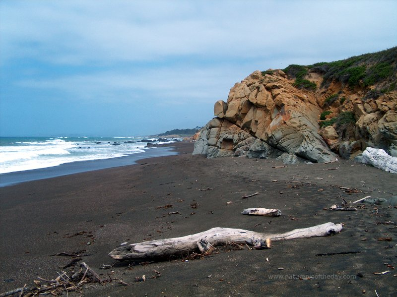 Gravel beach, north of San Luis Obispo, CA