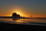 sunset, washington state, pacific ocean, beach, waves.
