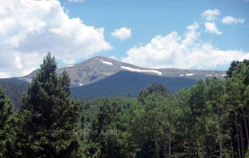 Snow on mountains, Red River, NM
