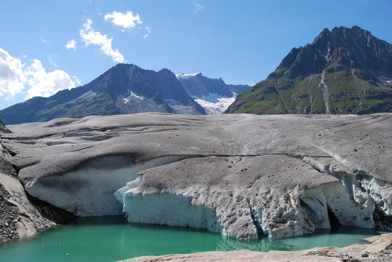 Glacier water in Switzerland