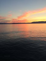 Gorgeous sunset on Flathead Lake