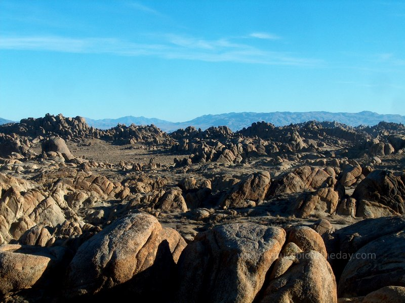 Rocks in the Alabama Hills of California.