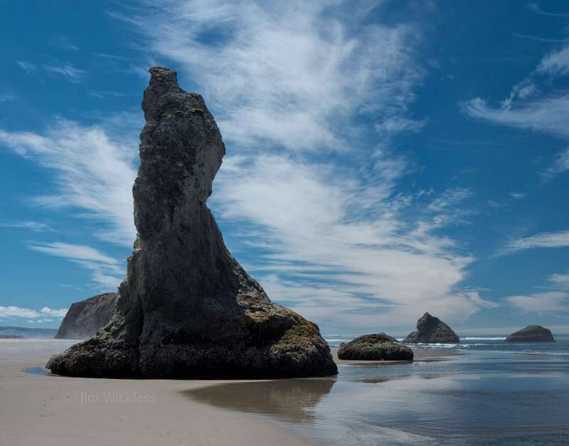 Beautiful beach scene in Oregon