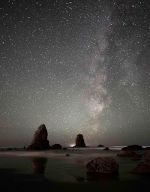 Beautiful scene of our galaxy from Cannon Beach, OR