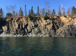 Cliffs on Lake Superior