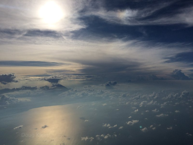 Ocean and clouds from the sky
