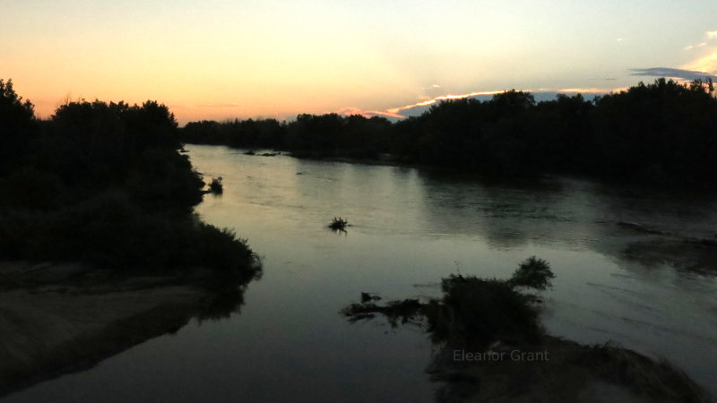 Platte River sunset