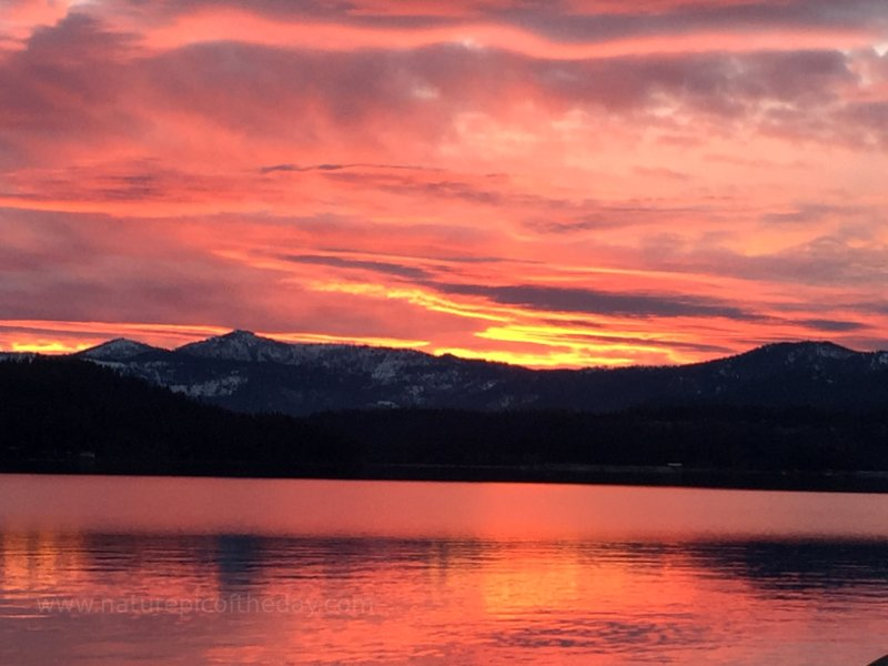 Sunset over Lake Coeur D