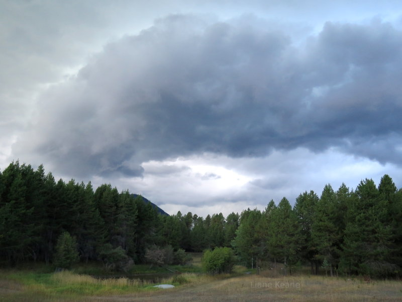 Storm clouds in Montana