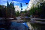Mirror lake in Yosemite National Park