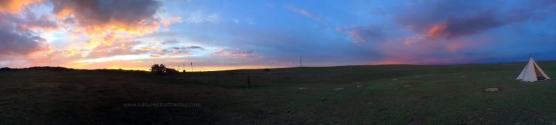 Sunset in Eastern Montana