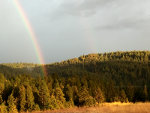 Double rainbow in Idaho
