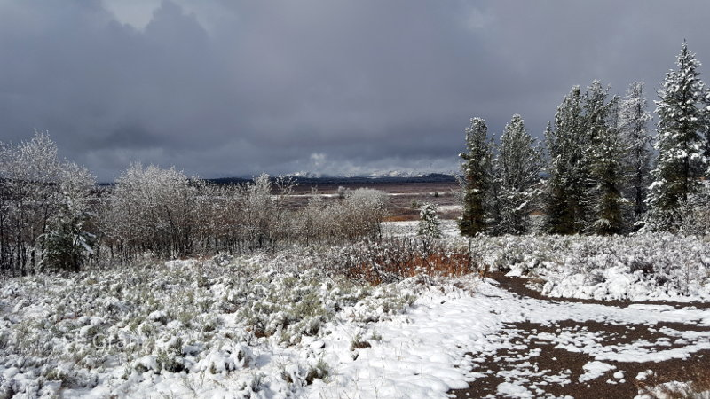 Snow in Wyoming