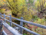 Walking Bridge over Warm Spring Creek near Salmon, Idaho