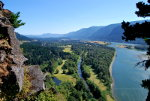 Climbing Beacon Rock on the Columbia River