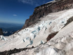 Ingraham Glacier and Gibralatar Rock near the top of Mount Rainier