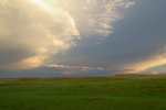 Sunset after rain shower in eastern Montana.
