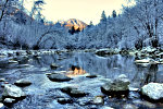 Winter stream photography.