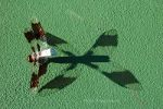 Insect Shadows on a tennis court.