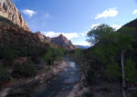 River in Zions National Park, UT