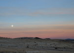 Moonset on the Palouse Hills