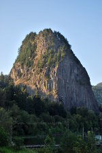 Tall Beacon Rock on the Columbia River